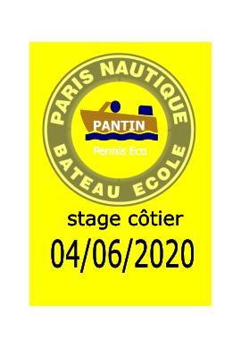 stage permis côtier du 04/06/2020